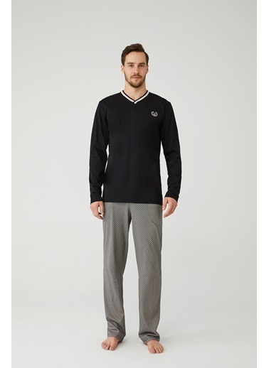 Mod Collection Erkek Pijama Takımı Siyah